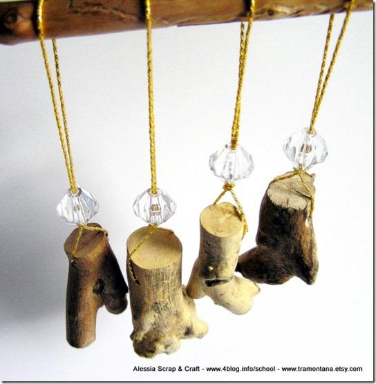 Decori di Natale: i legnetti Eco Chic Craft Christmas da appendere all'alber