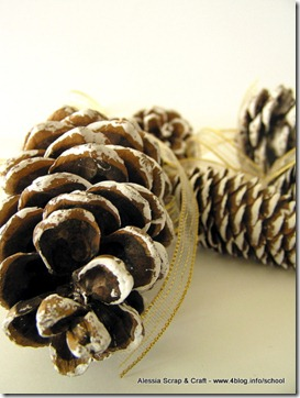 Lavoretti di Natale: le pigne Eco Chic Craft Christmas