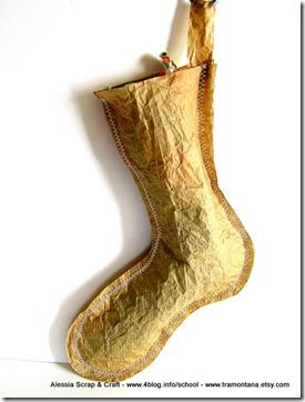 Lavoretti di Natale: la calza della Befana di carta eco chic craft Christmas