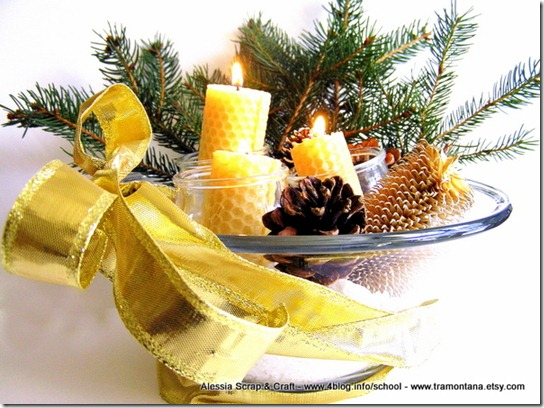 Decorazioni di Natale: centrotavola Eco Chic Craft Christmas