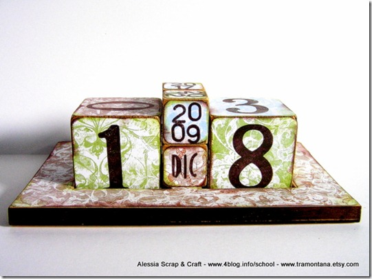 Regali di Natale fai da te: il calendario da tavolo eco chic craft Christmas