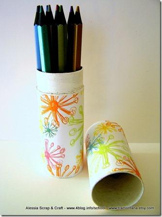 Regali di Natale fai da te: il porta penne riciclato eco chic craft Christmas