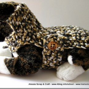 Pattern PDF per BURBERRY STYLE DOG, il cappottino taglia XSmall per cani/gatti