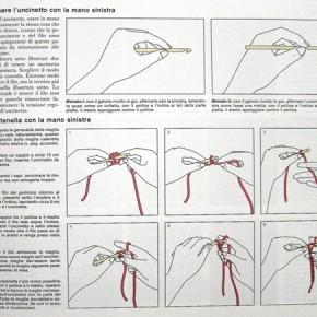 Scuola di uncinetto: lavorare uncinetto con la sinistra,  crochet per mancini