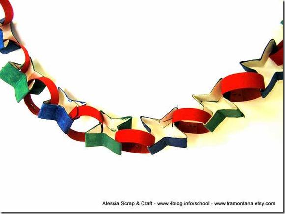 Decorazioni per le feste: la ghirlanda di stelle riciclate