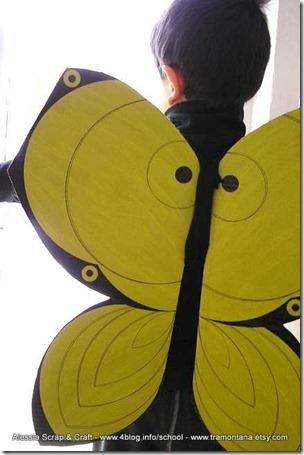 Costumi di Carnevale fai-da-te: ali da farfalla in cartone riciclato