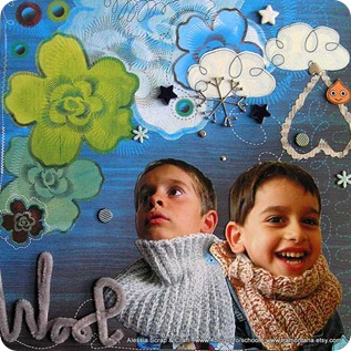 "Scrapbooking: un 30x30 che si intitola ""wool"""