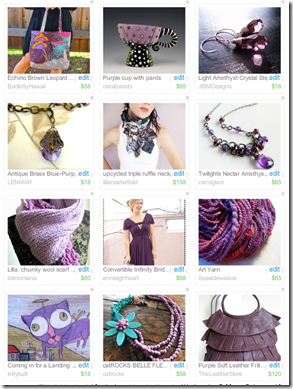 "I miei primi due ""treasury"" su Etsy"
