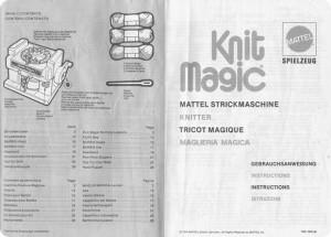 Maglieria Magica MATTEL, le istruzioni…