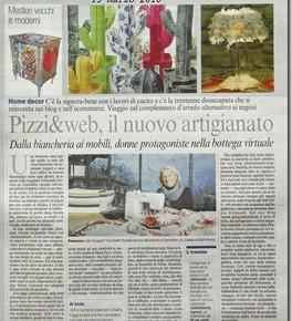 Pizzi&web, design e artigianato sul Corriere della Sera