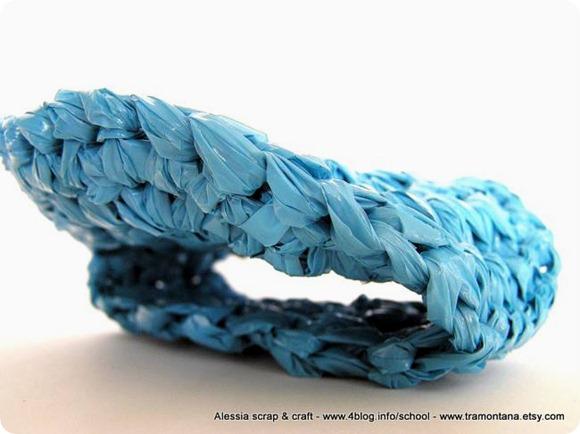 Uncinetto e filato di plastica riciclata, un nuovo progetto