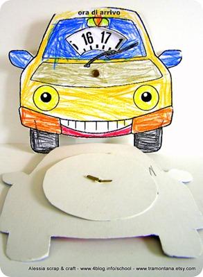 Lavoretti per la festa del papà: il disco orario colorato