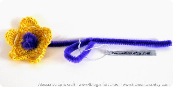 Con scovolini e crochet nascono i fiori