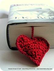 il cuore rosso a crochet
