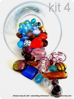 Murrine in kit per collane e bijoux