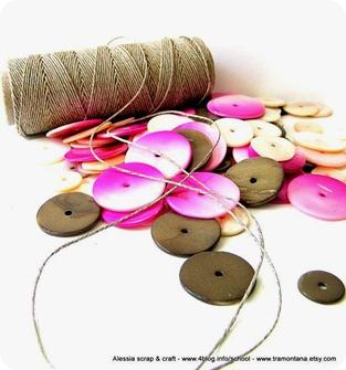 Kit per collane: madreperla + filo di lino + pattern