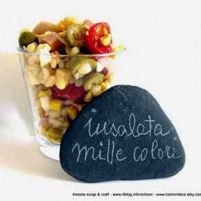 Fotografia: insalata mille colori di orzo e kamut