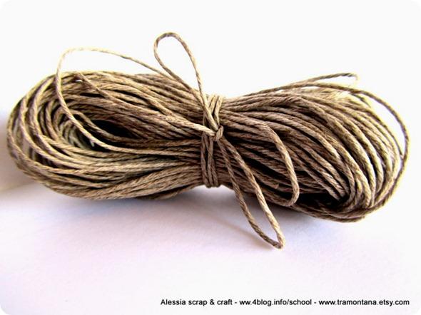 filato di puro lino color corda