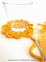 "Regali di Natale a crochet: sottobicchiere ""clean & simple"""