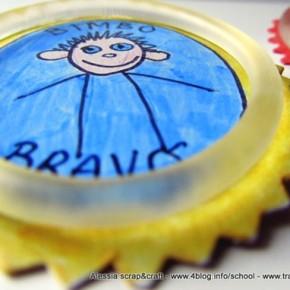 Lavoretti con i bambini: distintivi dei bimbi buoni