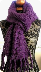 A grande richiesta pronto il pattern della sciarpa Viola uncinetto+maglia