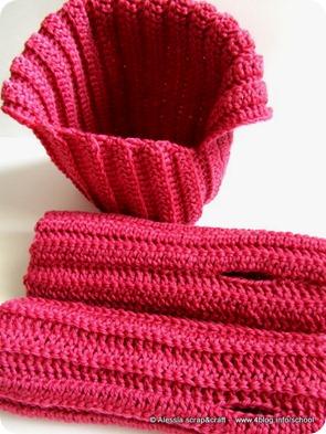 "Coordinato unisex, scaldacollo + guanti ""clean & simple"""