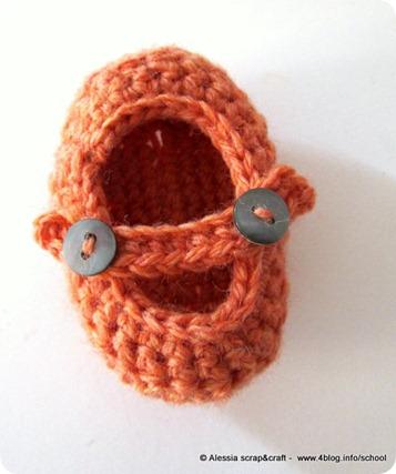 Scarpine per neonati (0-3 mesi) un nuovo pattern