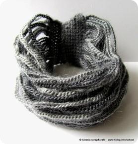 Collier a crochet morbido morbido e caldo caldo