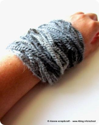 Braccialetto a crochet, completo finito con il collier!
