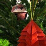 Decorazioni di Natale velocissime: alberi origami