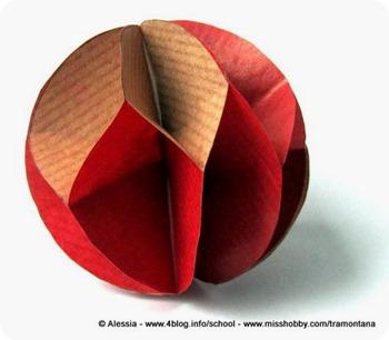 Decorazioni di natale velocissime palle di carta - Decorazioni di carta per albero di natale ...