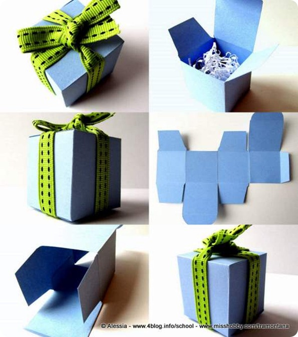 Preferenza Scatolina fai da te a cubo, velocissima - Alessia, scrap & craft  MT46