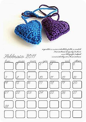 Febbraio 2011, il calendario da stampare di TUC
