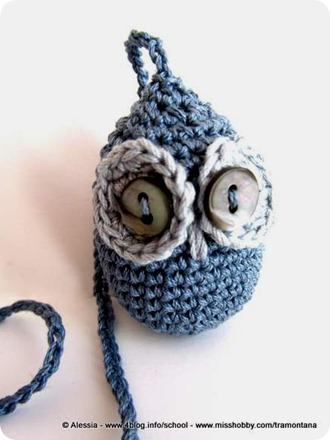 Sono nel trend dei gufi (civette?) a crochet