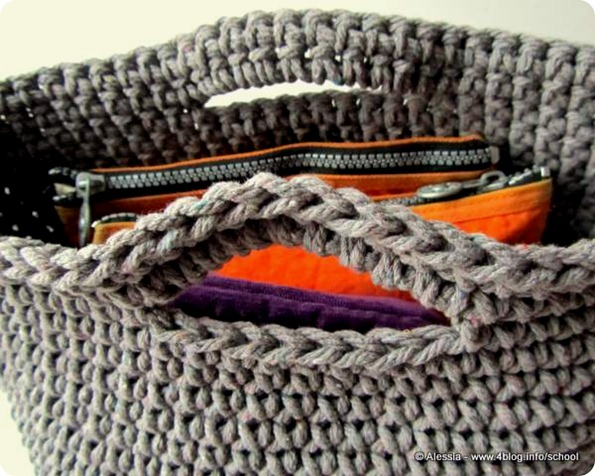 Big Bag finita, crochet semplice e speciale