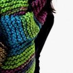 Sash-a, una piccola sciarpa-scaldacollo a maglia