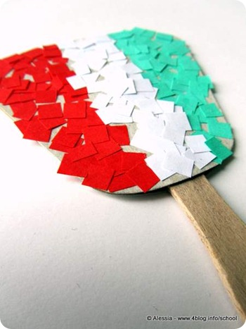 Lavoretti con i bambini bandiera del 17 marzo alessia for Lavoretti con abbassalingua