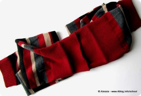 Scaldamuscoli lunghi diventano una sciarpa