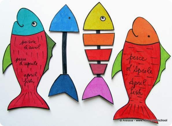 Lavoretti Con I Bambini Tutorial Pesce Daprile Alessia Scrap