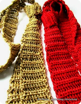 Le cravatte fatte a crochet sono unisex