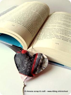 Carta e lino per un segnalibro e un Messaggio