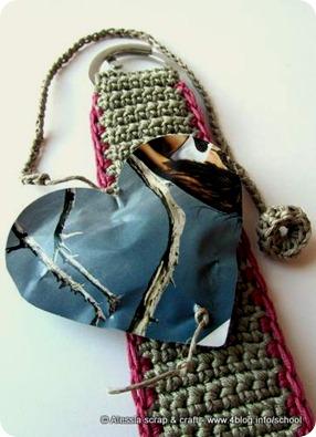 Segnalibro Messaggio + portachiavi a crochet