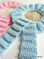 Fiocco nascita a crochet anche in azzurro