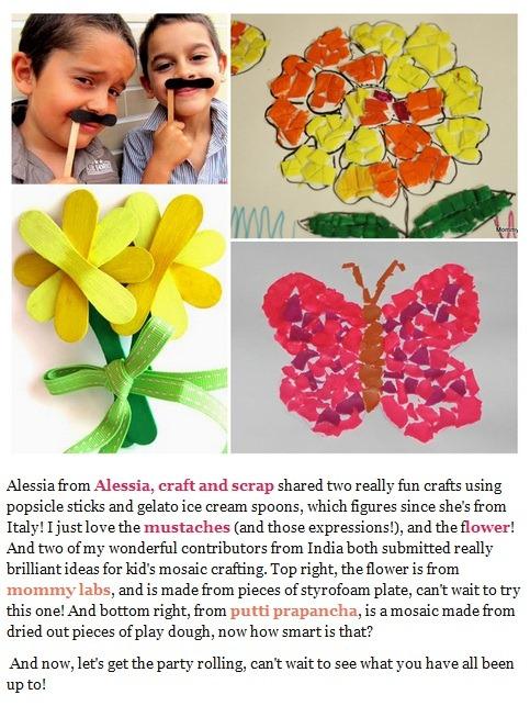 Stick flower e moustache su Craft Schooling Sunday