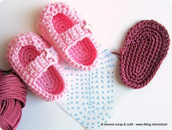 Costruendo Le Scarpine A Crochet Little Star Alessia Scrap Craft