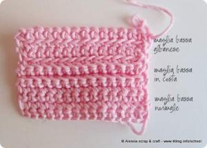 Scuola di uncinetto: varianti della maglia bassa