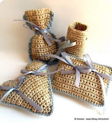 Bomboniera color crema crochet, ecco il pattern