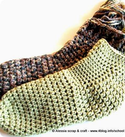 Ancora al lavoro sui calzettoni toe-up a crochet