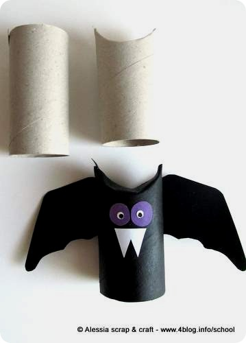 Last minute di Halloween: pipistrello di cartone