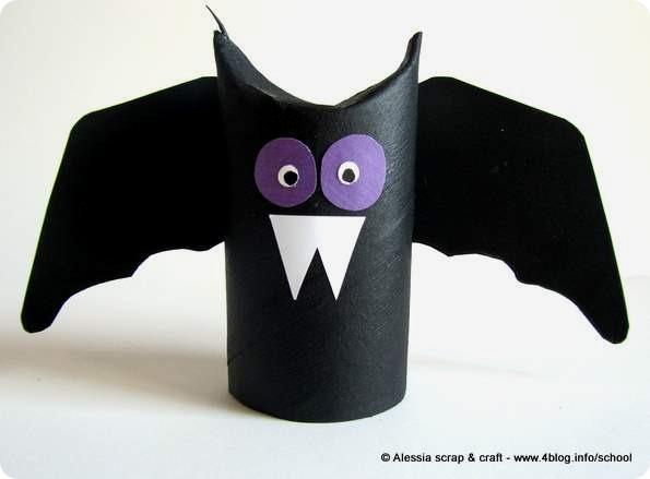 Last Minute Di Halloween Pipistrello Di Cartone Alessia Scrap